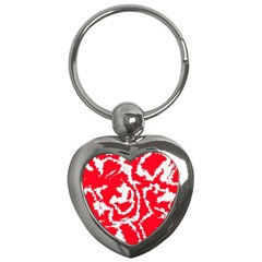 Migraine Red White Key Chains (heart)  by MoreColorsinLife