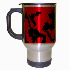 Migraine Red Travel Mug (Silver Gray) by MoreColorsinLife