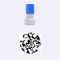 Migraine Red Rubber Round Stamps (Small) by MoreColorsinLife