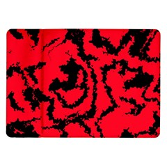 Migraine Red Samsung Galaxy Tab 10 1  P7500 Flip Case by MoreColorsinLife