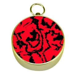 Migraine Red Gold Compasses by MoreColorsinLife