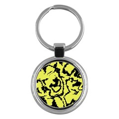 Migraine Yellow Key Chains (Round)  by MoreColorsinLife
