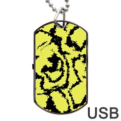 Migraine Yellow Dog Tag USB Flash (One Side) by MoreColorsinLife