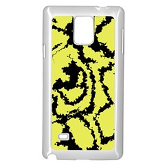 Migraine Yellow Samsung Galaxy Note 4 Case (White) by MoreColorsinLife