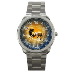 Wonderful Horses Sport Metal Watches by FantasyWorld7