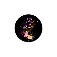 Awesome Flowers With Fire And Flame Golf Ball Marker by FantasyWorld7