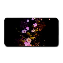 Awesome Flowers With Fire And Flame Medium Bar Mats by FantasyWorld7