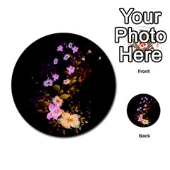 Awesome Flowers With Fire And Flame Multi Purpose Cards (round)  by FantasyWorld7