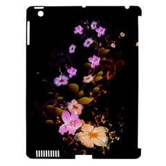 Awesome Flowers With Fire And Flame Apple iPad 3/4 Hardshell Case (Compatible with Smart Cover) by FantasyWorld7