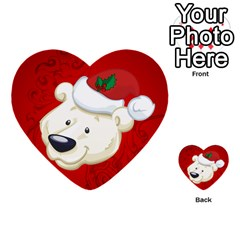 Funny Polar Bear Multi Purpose Cards (heart)  by FantasyWorld7