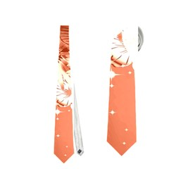 Amazing Flowers With Dragonflies Neckties (Two Side)  by FantasyWorld7