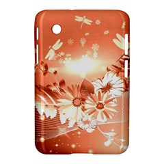 Amazing Flowers With Dragonflies Samsung Galaxy Tab 2 (7 ) P3100 Hardshell Case  by FantasyWorld7