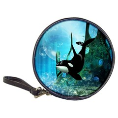 Orca Swimming In A Fantasy World Classic 20 Cd Wallets by FantasyWorld7