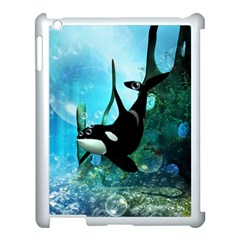 Orca Swimming In A Fantasy World Apple Ipad 3/4 Case (white) by FantasyWorld7