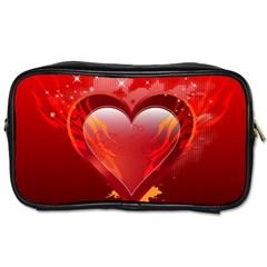 Heart Toiletries Bags 2 Side by EnjoymentArt