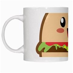 Kawaii Burger White Mugs by KawaiiKawaii