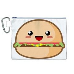 Kawaii Burger Canvas Cosmetic Bag (xl)  by KawaiiKawaii