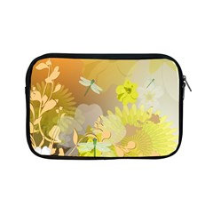 Beautiful Yellow Flowers With Dragonflies Apple iPad Mini Zipper Cases by FantasyWorld7