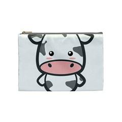 Kawaii Cow Cosmetic Bag (medium)  by KawaiiKawaii