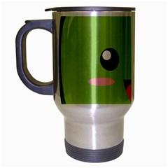 Kawaii Green Apple Travel Mug (silver Gray) by KawaiiKawaii