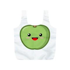 Kawaii Green Apple Full Print Recycle Bags (S)  by KawaiiKawaii