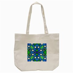 Florescent Blue Green Abstract  Tote Bag (cream)  by OCDesignss
