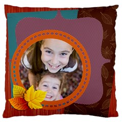 Fall By Thank You   Large Cushion Case (two Sides)   3roreomj9yhp   Www Artscow Com Back