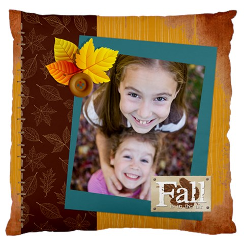 Fall By Thank You   Large Flano Cushion Case (one Side)   79flm23c55c7   Www Artscow Com Front