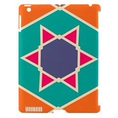 Red Retro Star Apple Ipad 3/4 Hardshell Case (compatible With Smart Cover) by LalyLauraFLM