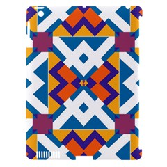 Shapes In Rectangles Pattern Apple Ipad 3/4 Hardshell Case (compatible With Smart Cover) by LalyLauraFLM