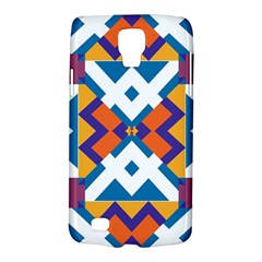 Shapes In Rectangles Pattern Samsung Galaxy S4 Active (i9295) Hardshell Case by LalyLauraFLM