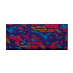 Chaos In Retro Colors Hand Towel by LalyLauraFLM