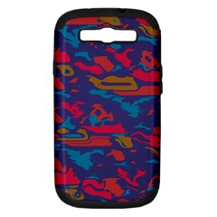 Chaos In Retro Colors Samsung Galaxy S Iii Hardshell Case (pc+silicone) by LalyLauraFLM