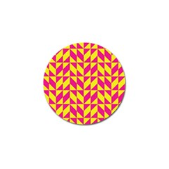 Pink And Yellow Shapes Pattern Golf Ball Marker (10 Pack) by LalyLauraFLM
