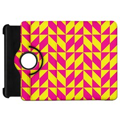 Pink And Yellow Shapes Patternkindle Fire Hd Flip 360 Case by LalyLauraFLM