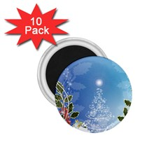 Christmas Tree 1 75  Magnets (10 Pack)  by FantasyWorld7