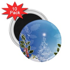 Christmas Tree 2 25  Magnets (10 Pack)  by FantasyWorld7