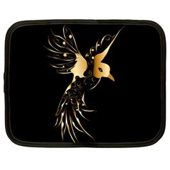 Beautiful Bird In Gold And Black Netbook Case (xl)  by FantasyWorld7