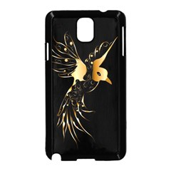 Beautiful Bird In Gold And Black Samsung Galaxy Note 3 Neo Hardshell Case (black) by FantasyWorld7