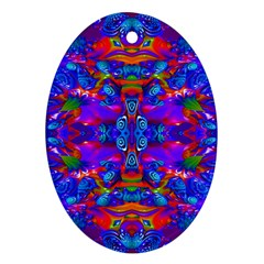 Abstract 4 Ornament (oval)  by icarusismartdesigns