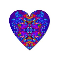 Abstract 4 Heart Magnet by icarusismartdesigns