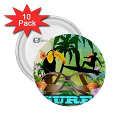 Surfing 2 25  Buttons (10 Pack)  by FantasyWorld7