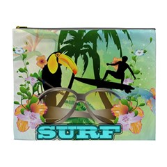 Surfing Cosmetic Bag (XL) by FantasyWorld7