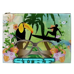 Surfing Cosmetic Bag (xxl)  by FantasyWorld7
