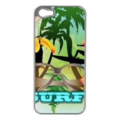 Surfing Apple Iphone 5 Case (silver) by FantasyWorld7