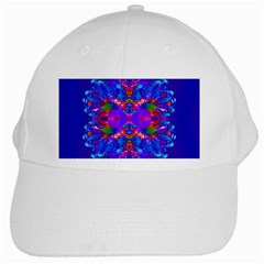 Abstract 5 White Cap by icarusismartdesigns