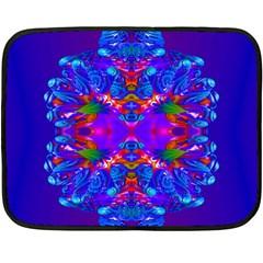 Abstract 5 Double Sided Fleece Blanket (mini)  by icarusismartdesigns