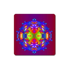 Abstract 6 Square Magnet by icarusismartdesigns