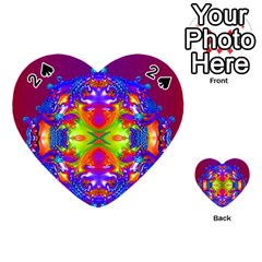 Abstract 6 Playing Cards 54 (heart)  by icarusismartdesigns