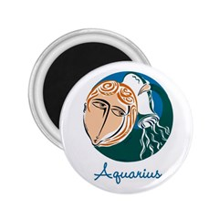 Aquarius Star Sign 2 25  Magnets by theimagezone